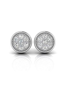 jewellery: WHY Sterling Silver Diamond Round Halo Earrings!