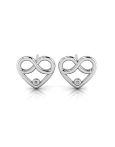 jewellery: WHY Silver Diamond Infinity Heart Earrings!