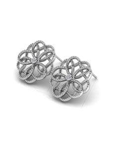 jewellery: WHY Sterling Silver Floral Motif Diamond Earrings!