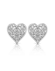 jewellery: WHY Silver Filigree Heart Earrings!