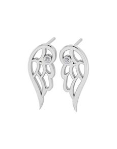 jewellery: WHY Silver Diamond Angel Wing Earrings!