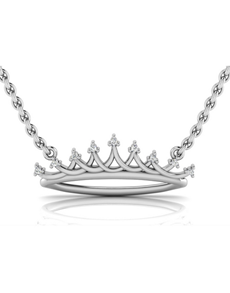 jewellery: WHY Sterling Silver Diamond Crown Necklace!
