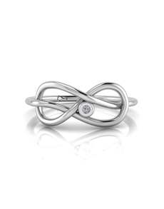 jewellery: WHY Sterling Silver Infinity Diamond Ring!