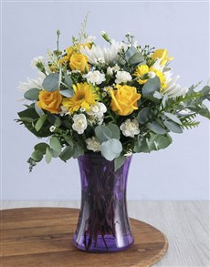 flowers: Pop of Colour Arrangement!