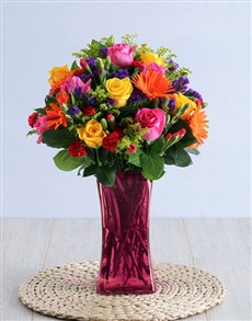 flowers: Colour Wheel Arrangement!
