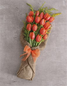 flowers: Radiant Tulips Bouquet!