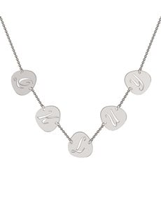jewellery: Memi Personalised 5 Pebble Initial Necklace!