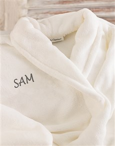 gifts: Personalised Dressing Gown Adult!