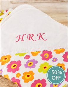 gifts: Personalised Flower Print Picnic Blanket!
