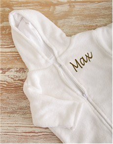 gifts: Personalised Fleece Baby Sleeping Jacket!