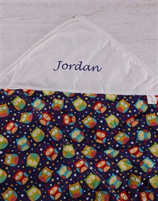 gifts: Personalised Baby Picnic Blanket Birds!