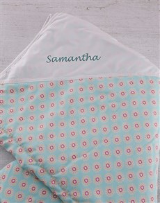 gifts: Flower Personalised Blanket!