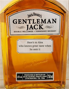 gifts: Personalised Jack Daniels!