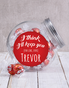 gifts: Personalised I Think Ill Keep You Candy Jar!