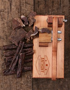 gifts: Personalised Biltong Cutter!