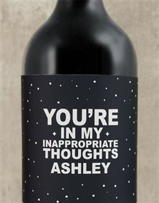 gifts: Personalised Inappropriate Thoughts Wine!