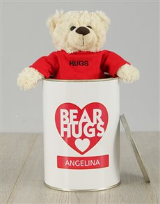 gifts: Personalised Bear Hugs Teddy Tin!