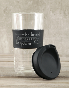 gifts: Personalised Be Bright Happy You Travel Mug!