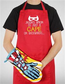 gifts: Personalised Backwards Cape Apron!