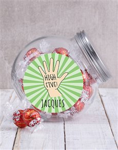 gifts: Personalised High Five Candy Jar!