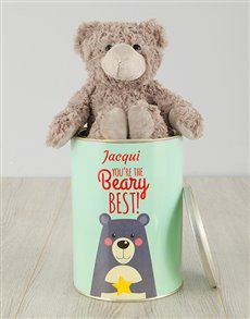 gifts: Personalised Beary Best Teddy Tin!
