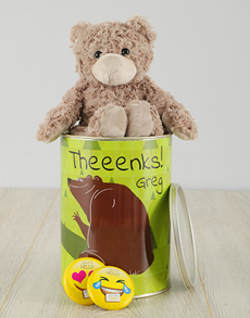 gifts: Personalised Theenks Teddy Tin!