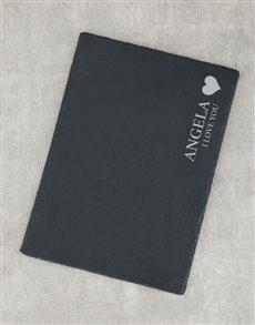 gifts: Personalised I Love You Slate Board!