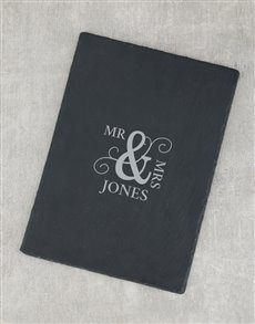 gifts: Personalised Mr and Mrs Slate Board!