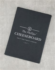 gifts: Personalised Finest Cheese Slate Board!