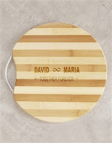gifts: Personalised Together Forever Chopping Board!