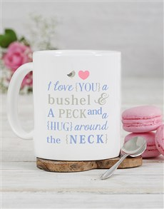 gifts: Personalised Neck Hug Mug!