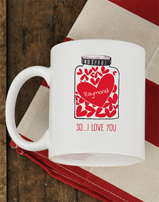 gifts: Personalised Love Jar Mug!
