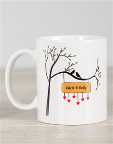 gifts: Personalised Love Bird Mug!