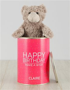 gifts: Personalised Birthday Wish Teddy Tin!