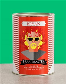 gifts: Personalised Braai Master Bro Bucket!