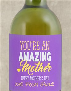gifts: Personalised Amazing Mom Wine!
