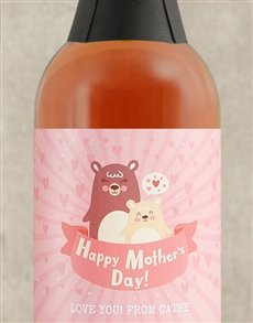 gifts: Personalised Mother Bear Bubbly!