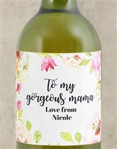 gifts: Personalised Gorgeous Mama Wine!