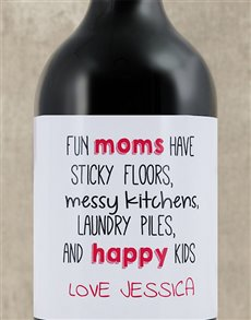 gifts: Personalised Fun Moms Wine!