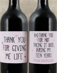 gifts: Personalised Life Wine Duo!