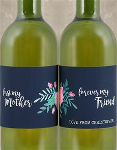 gifts: Personalised Mother and Friend Wine Duo!