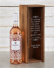gifts: Personalised Mothers Love Wine Crate!