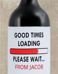 gifts: Personalised Good Times Wine!