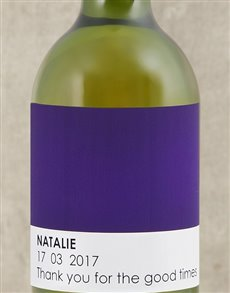 gifts: Personalised Purple Pantone Wine!