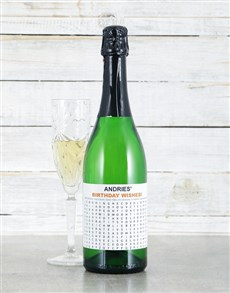 gifts: Personalised Birthday Crossword Sparkling Wine!