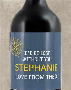 gifts: Personalised Lost Without You Wine!