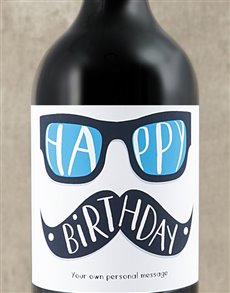 gifts: Personalised Birthday Glasses Wine!