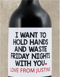 gifts: Personalised Holding Hands Wine!