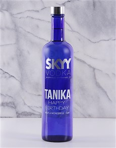 gifts: Personalised SKYY Vodka!