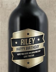 gifts: Personalised Gold Plaque Wine!